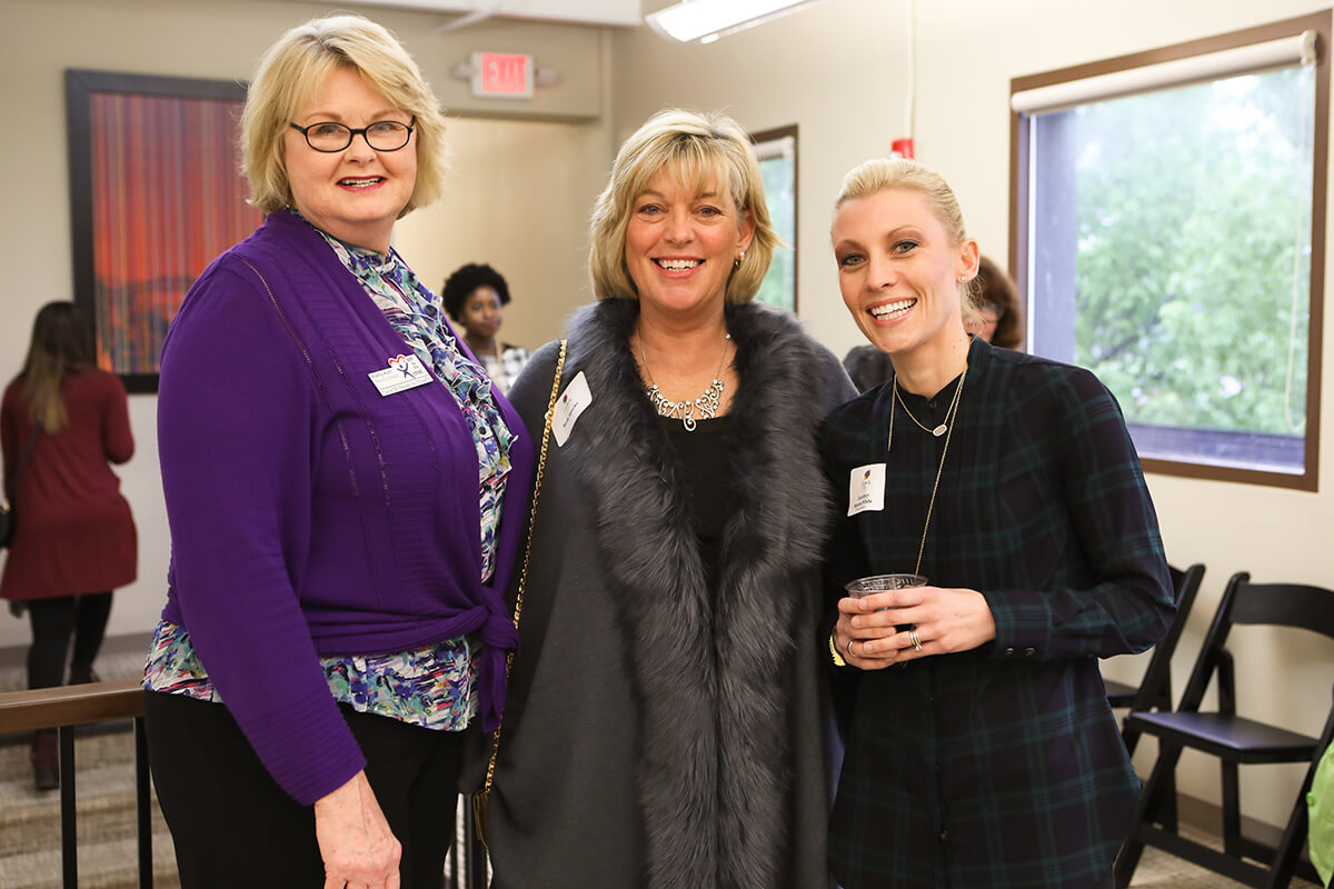 Kathy Kerr, Beth Sparks, and Board Member Courtney Sparks White