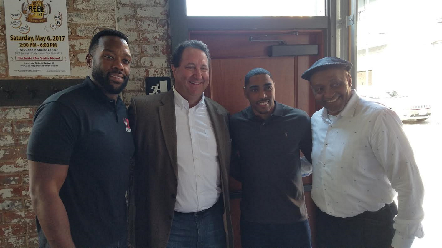 Jay Richardson, Jim Karsatos, Antonio Smith, and Calvin Murray support CASA.