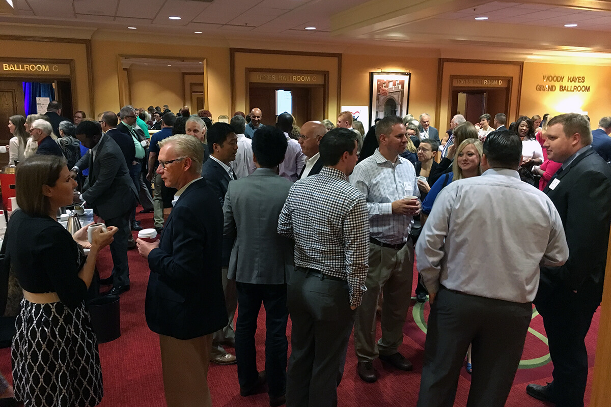 Guests mingle before the event at the Renaissance Columbus Downtown Hotel