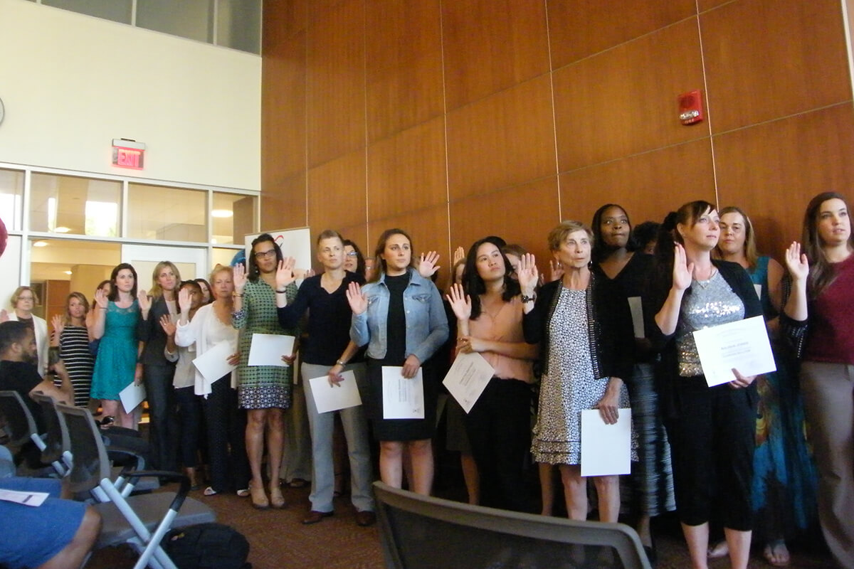 The newest group of volunteer Guardians ad Litem are sworn in!