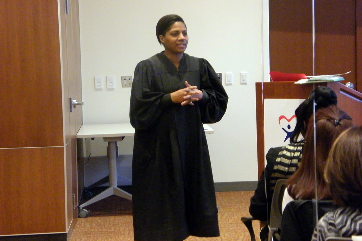 Magistrate Leshyl Stroud inspires new advocates.